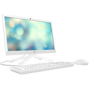 """Моноблок HP All-in-One 20.7"""" FHD/Intel Pen J5040/8/256F/int/kbm/DOS/White"""